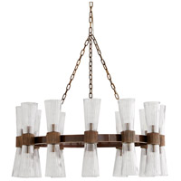 Arteriors 89676 Whittier 24 Light 36 inch Heritage Brass Chandelier Ceiling Light