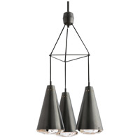 Estelle 3 Light 17 inch Oil Rubbed Bronze Chandelier Ceiling Light, Round