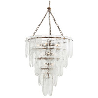 Eloise 13 Light 25 inch Antique Brass Chandelier Ceiling Light, Round