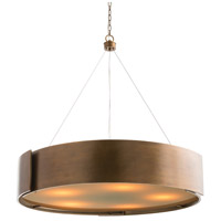 Dante 5 Light 42 inch Antique Brass Chandelier Ceiling Light, Round