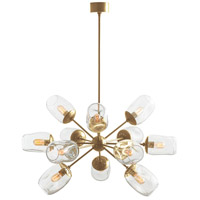 Arteriors 89962 Ramirez 12 Light 39 inch Antique Brass Chandelier Ceiling Light