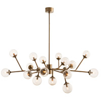 Arteriors 89966 Dallas 18 Light 58 inch Vintage Brass Chandelier Ceiling Light