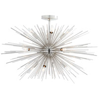 Zanadoo 12 Light 30 inch Polished Nickel Chandelier Ceiling Light, Fixed