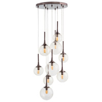 Penfield 9 Light 26 inch Brown Nickel Chandelier Ceiling Light