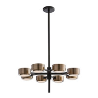 Arteriors 89974 Jalen 8 Light 30 inch Bronze Chandelier Ceiling Light