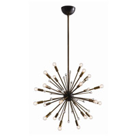 Imogene 24 Light 26 inch Vintage Brass and Bronze Chandelier Ceiling Light, Small