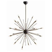 Imogene 24 Light 42 inch Vintage Brass and Bronze Chandelier Ceiling Light, Large