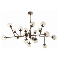 Dallas 18 Light 58 inch Brown Nickel Chandelier Ceiling Light