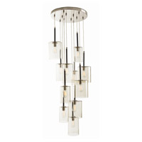Duchess 12 Light 24 inch Polished Nickel and Matte Black Chandelier Ceiling Light, Fixed
