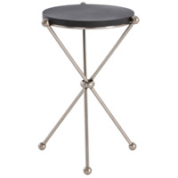 Chloe Vintage Silver/Black Marble Accent Table Home Decor