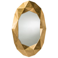 Arteriors 9115 Fallon 52 X 32 inch Gold Leaf Wall Mirror, Oval