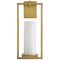 Arteriors DB49013 Pillar 1 Light 8 inch Antique Brass Sconce Wall Light Ray Booth Essential Lighting