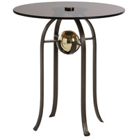 Orb Burnt Wax Iron/Polished Brass Side Table Home Decor