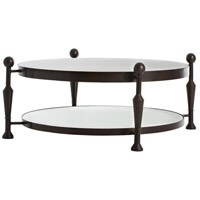 Thebes 47 X 47 inch Burnt Wax/Antiqued Mirror Border Cocktail Table Home Decor