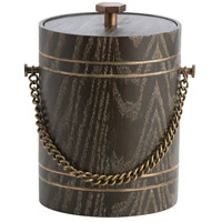 Gilles Cerused Oak/Antique Brass/Stainless Steel Ice Bucket
