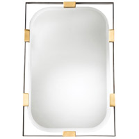 Arteriors DJ2049 Frankie 42 X 28 inch Polished Brass Wall Mirror, Rectangular