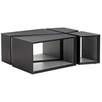 Tina 42 inch Ebony Cocktail Table Home Decor, Set of 4