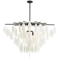 Tiffany 8 Light 42 inch Blackened Chandelier Ceiling Light