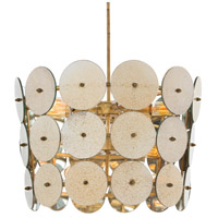 Vanity 13 Light 24 inch Gold Leafed Iron/Antiqued Mirror Pendant Ceiling Light