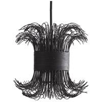 Arteriors DK49960 Filamento 1 Light 21 inch Black Pendant Ceiling Light, Laura Kirar