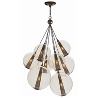 Arteriors DK89903 Caviar 8 Light 29 inch Brown Nickel Chandelier Ceiling Light, Adjustable Large Cluster
