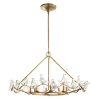 Arteriors DK89951 Dove 8 Light 36 inch Antique Brass Chandelier Ceiling Light