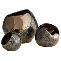 Arteriors DP7001 Flint Bronze Containers, Frank Ponterio, Set of 3