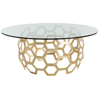 Dolma Gold Leaf Dining Table Home Decor, Round