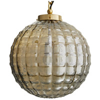 Arteriors Antique Brass Glass Pendants