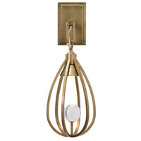 Athena 1 Light 7 inch Antique Brass Wall Sconce Wall Light