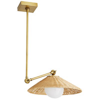 Arteriors DS49026 Windsor Smith Padma 1 Light 14 inch Natural and Antique Brass Pendant Ceiling Light