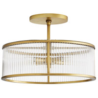 Arteriors DS49029 Windsor Smith Hera 4 Light 16 inch Antique Brass Semi Flush Mount Ceiling Light, Oval