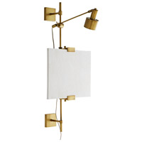 Arteriors DS49032 Windsor Smith Aja 1 Light 24 inch Antique Brass Wall Sconce Wall Light