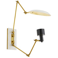 Windsor Smith Apparatus 1 Light 12 inch Antique Brass and Bronze with White Marble Sconce Wall Light