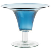 Julius Blue/Clear Vase, Round