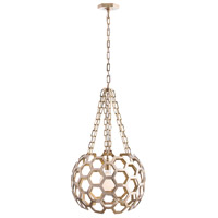 Dolma 1 Light 22 inch Polished Brass Chandelier Ceiling Light, Round