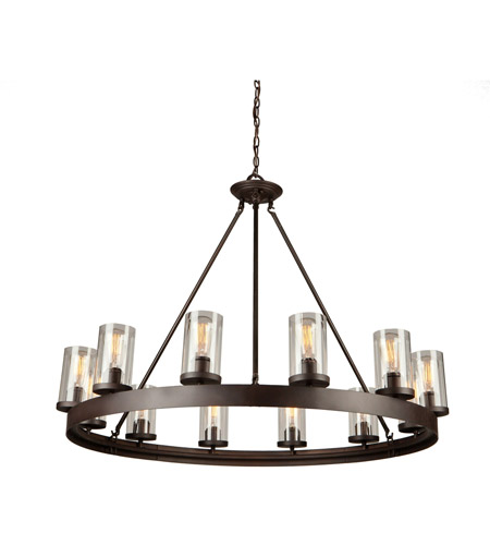 artcraft ac10002 menlo park 12 light 42 inch oil rubbed bronze