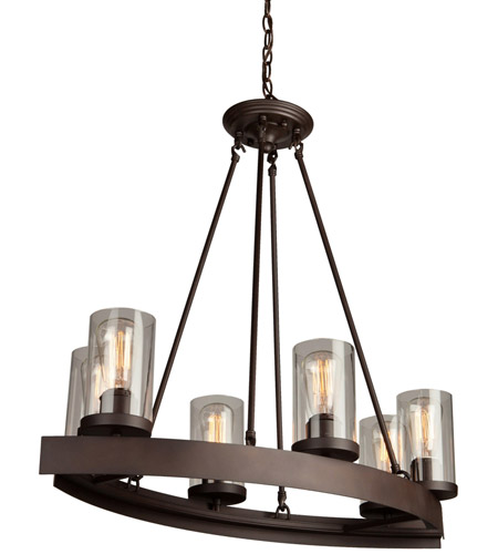 artcraft ac10005 menlo park 6 light 32 inch oil rubbed bronze