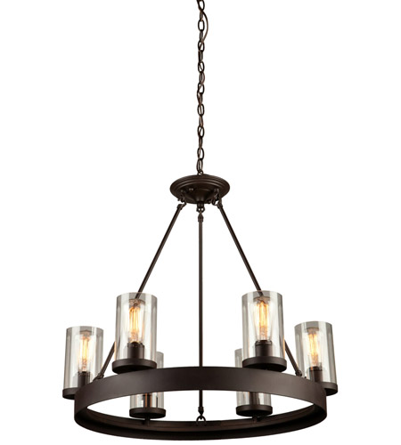 artcraft ac10006 menlo park 6 light 26 inch oil rubbed bronze