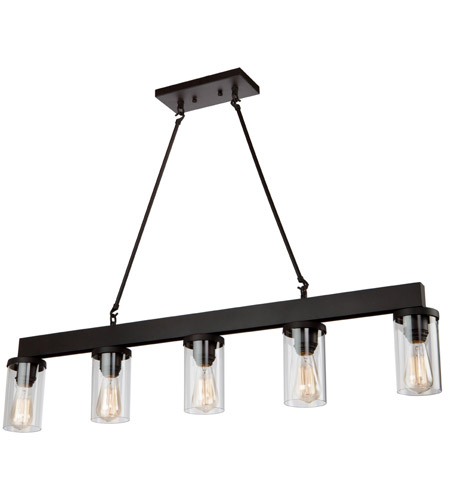 artcraft ac10008 menlo park 5 light 42 inch oil rubbed bronze island