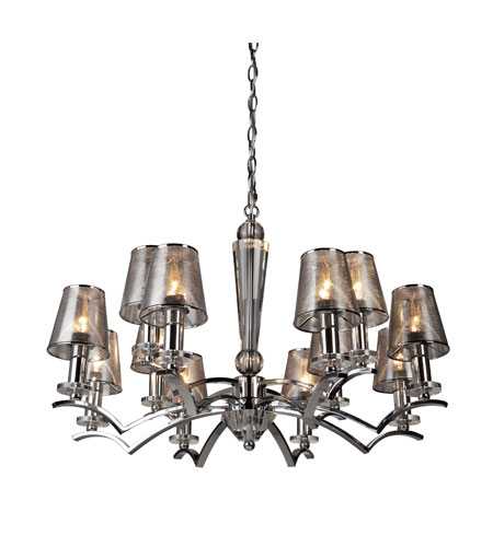 Artcraft Lighting Brera 12 Light Chandelier in Chrome AC1012CH photo
