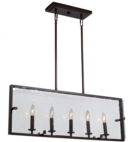 Artcraft ac10304ob harbor point 5 light 32 inch oil rubbed bronze island light ceiling light