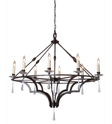 Artcraft Lighting Balmoral 8 Light Chandelier in Dark Brown AC1068 photo