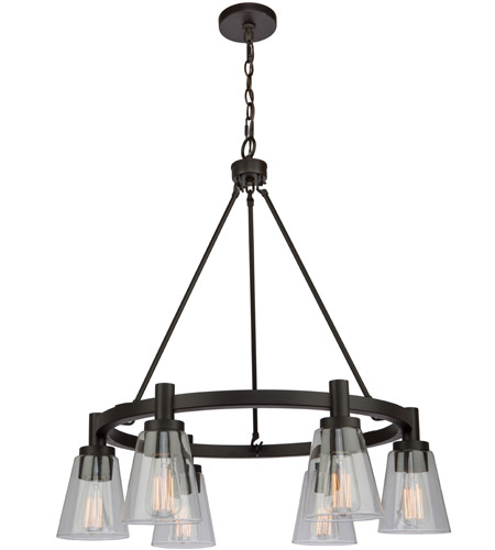 artcraft ac10765ob clarence 6 light 28 inch oil rubbed bronze chandelier ceiling light
