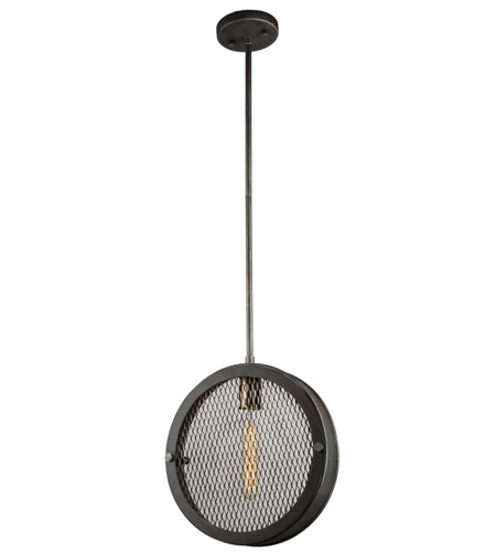 Artcraft AC10830GB Riverside 1 Light 3 inch Granite Black and Vintage Brass Pendant Ceiling Light photo thumbnail