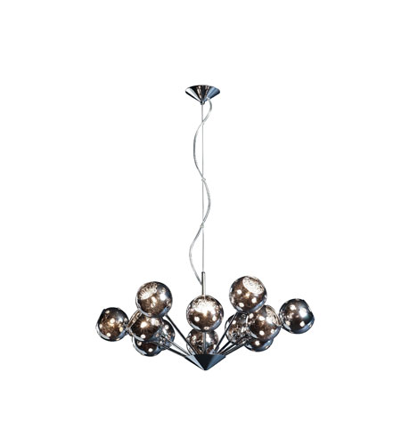 Artcraft Lighting Nebula 12 Light Chandelier in Polished Chrome AC112 photo