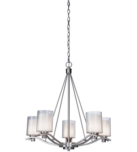 Artcraft AC1135PN Andover 5 Light 27 inch Polished Nickel Chandelier Ceiling Light photo