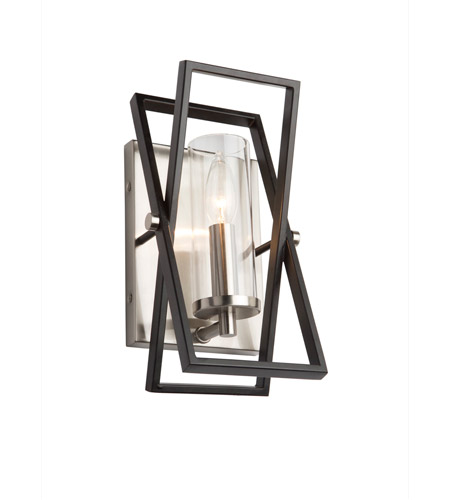 Artcraft AC11475 Vissini 1 Light 4 inch Matte Black and Polished Nickel Wall Sconce Wall Light photo thumbnail