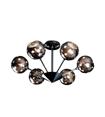Artcraft Lighting Nebula 6 Light Flush Mount in Polished Chrome AC116 photo