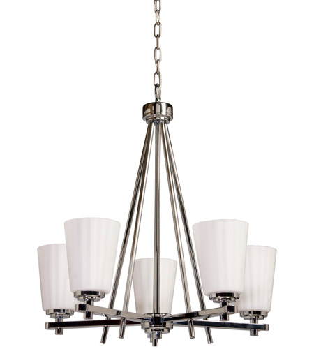 ARTCRAFT Raleigh 5 Light Chandelier in Chrome AC1275CH photo
